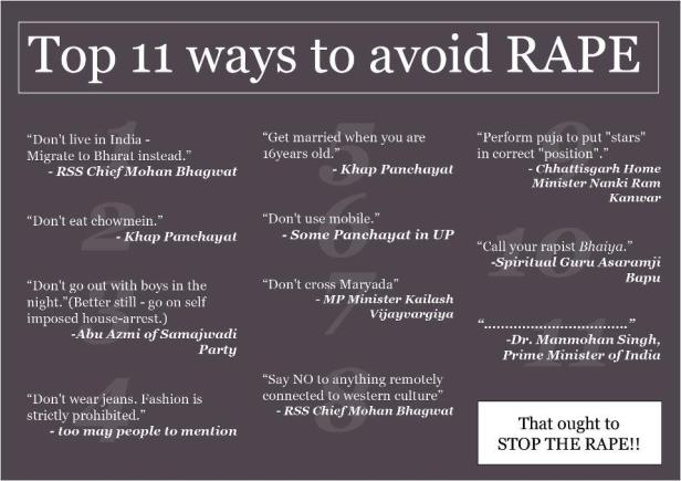 Top 11 reasons to avoid Rape!