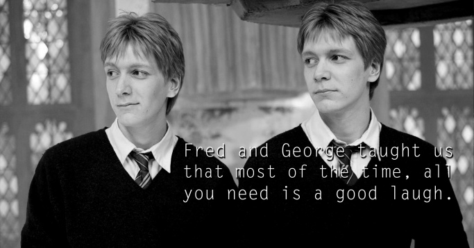 Fred and George Weasley - See the 30 Things That Harry Potter taught us