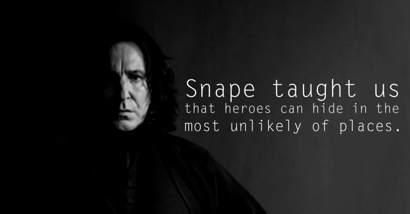 Snape - See the 30 Things That Harry Potter taught us