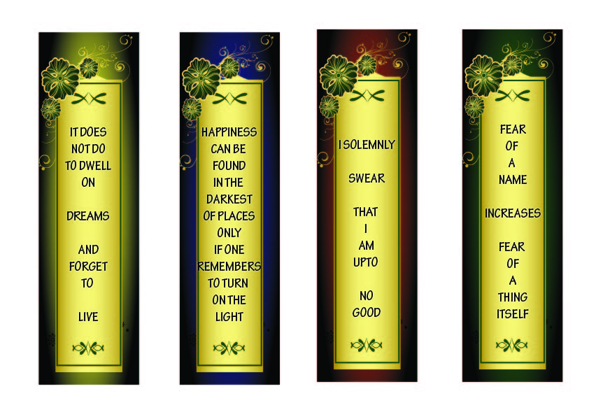 It is a graphic of Amazing Harry Potter Bookmarks Printable